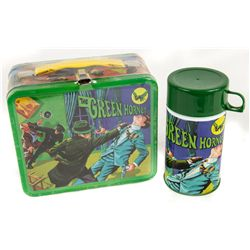 GREEN HORNET Retro Tin Lunch Box with Thermos
