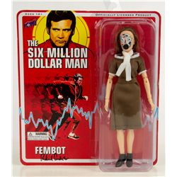 SIX MILLION DOLLOR MAN Fembot Action Figure Signed by Richard Anderson