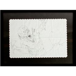 JOHN FASANO Original Demon Indian Placemat Drawing