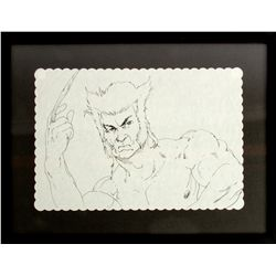 JOHN FASANO Original Wolverine Placemat Drawing