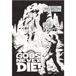 THOR  Gods Never Die  2 Page Orignal Comic Artwork