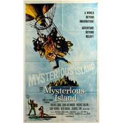MYSTERIOUS ISLAND Vintage 1-Sheet Poster Signed by Ray Harryhausen