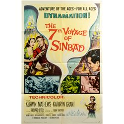 THE 7th VOYAGE OF SINBAD 1-Sheet Poster Signed by Ray Harryhausen