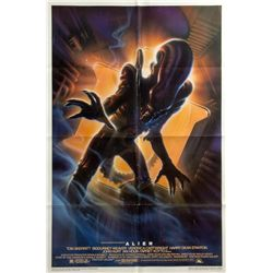 ALIEN Advance 15th Anniversary Style A 1-Sheet Poster Signed by John Alvin