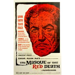 THE MASQUE OF THE RED DEATH Vintage 1-Sheet Poster 1964