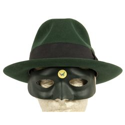 GREEN HORNET Replica Mask & Original Hat Made for George Clooney by Baron Hats