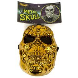 GOLD METAL SKULL John Fasano-Designed Plastic Mask