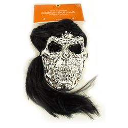 PLATINUM METAL SKULL John Fasano-Designed Plastic Mask