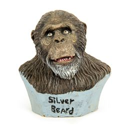 GREYSTOKE: THE LEGEND OF TARZAN Rare Silver Beard Ape Miniature Bust by Steve Wang