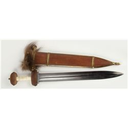 Gladius Sword & Sheath Signed by Hollywood Sword Master Jody Samson