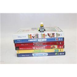 BUNDLE OF 6 DISNEY DVD MOVIES (PIXAR)