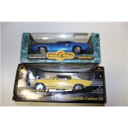 DIE CAST MUSCLE CARS X 2