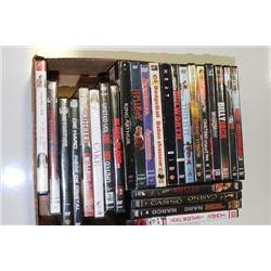 BOX W/ 25 DVD MOVIES