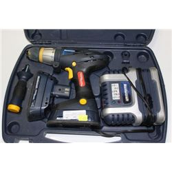 MASTERCRAFT 18V DRILL WITH 2 BATTERIES, CHARGER