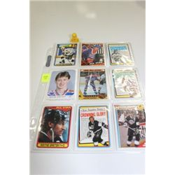 SHEET OF GRETZKY COLLECTOR CARDS