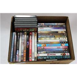 BOX W/ 35 DVD MOVIES