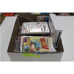 BOX W/ Wii, OPERATION MANUAL, CORDS, 2 REMOTES