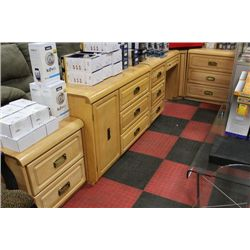 SOLID WOOD 6 PC BEDROOM FURNITURE SET