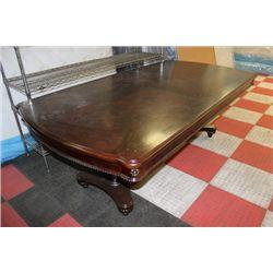 NEW DBL KITCHEN PEDESTAL TABLE W LEAF