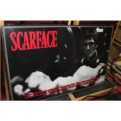 LARGE SCARFACE WALL PLAQUE 34INCH. X 22INCH.