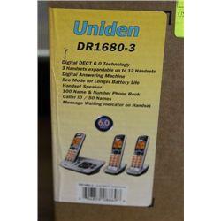 UNIDEN DR-1680-3 3 PHONE COMBO