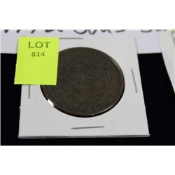 LOWER CANADA 1844 2 SOUS, SCARCE