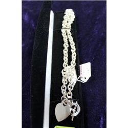 ".925 16"" NECKLACE WITH HEART"