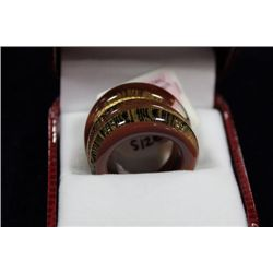 MURANO GLASS SILVER  24KT GOLD RING MADE IN ITALY