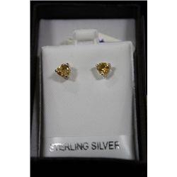 CITRINE & .925 SILVER EARRINGS