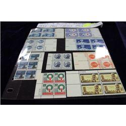 USA 9 BLOCKS STAMPS, MINT, 1952-1966