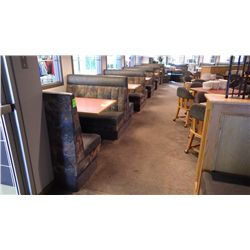 4 DOUBLE SIDED BOOTH SEATS ( 2 PERSON), 2 SINGLE SIDED BOOTH SEATS (2 PERSON) 2 SINGLE SIDED BOOTH S