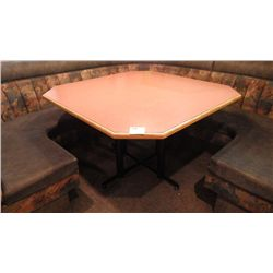 1 LARGE FOUR PEDESTAL TABLE