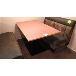 1 FOUR PEDESTAL TABLE (FOUR PERSON)