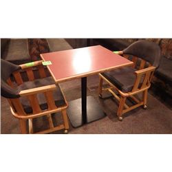 1 SINGLE PEDESTAL TABLE (TWO PERSON)
