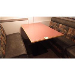 1 SINGLE PEDESTAL TABLE (FOUR PERSON)