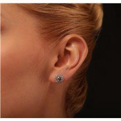 14KT White Gold 1.79ctw Diamond Earrings