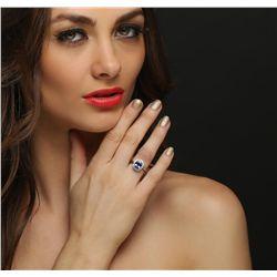 14KT White Gold 2.37ct Tanzanite and Diamond Ring