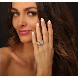 18KT Yellow Gold 3.89ctw Diamond Ring
