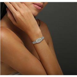 Ladies Art Deco Platinum and 18KT White Gold Allemahn Montreux Diamond Wristwatch