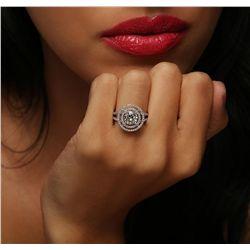 14KT White Gold 1.54ctw Diamond Ring