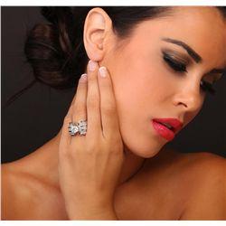 18KT White Gold 5.63ctw Diamond Ring