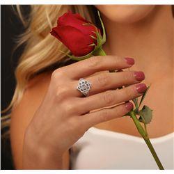 18KT White Gold 1.62ctw Diamond Ring