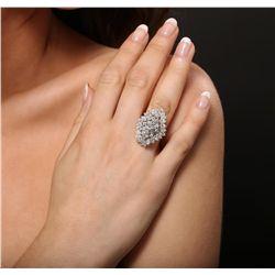 18KT White Gold 5.30ctw Diamond Ring