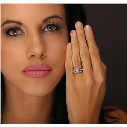 18KT White Gold 1.73ctw Diamond Ring