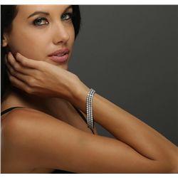 14KT White Gold 6.54ctw Diamond Bracelet