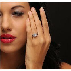 14KT White Gold 1.70ctw Diamond Ring