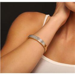 14KT Yellow Gold 5.50ctw Diamond Bangle Bracelet