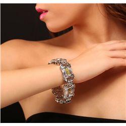 14KT White Gold 12.50ctw Diamond Bracelet