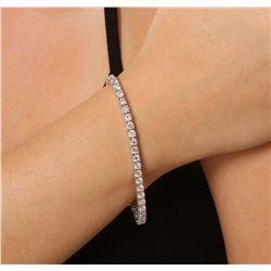 14KT White Gold 7.31ctw Diamond Tennis Bracelet