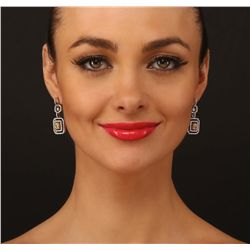 Platinum 2.45ctw Diamond Earrings